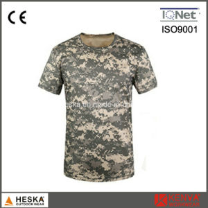 Military Army Color Cotton Mens Camouflage T Shirt pictures & photos
