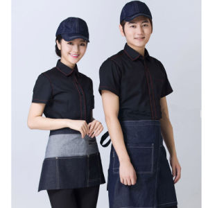 Fast Food Restaurant Waiter Uniform of Cotton and Polyester pictures & photos