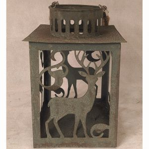 Antique Square Tin Metal Garden Home Lantern pictures & photos