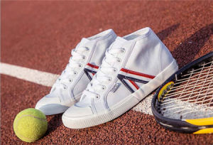 Canvas Striped Ankle Casual Shoes (YZ94)