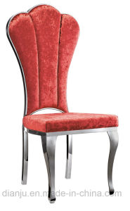 Colorful Fabric Stainless Steel Hotel Furniture Dining Chair (B8866) pictures & photos