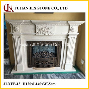 Stone Flower Carved Marble Fireplace Mantel pictures & photos