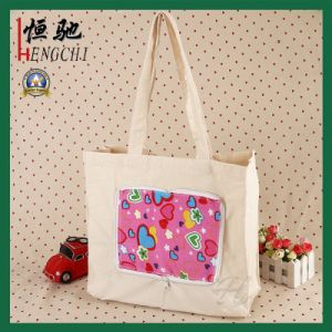 Full Color Printing Advertising Women Handle Tote Bag pictures & photos