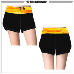 Custom Gym Shorts OEM Factory Wholesale Lycra Yoga Fitness Shorts pictures & photos