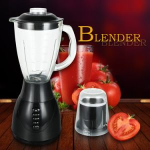 2 in 1 Heavy Duty 3 Speeds Glass Jar Silver Body Electric Blender pictures & photos