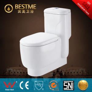 White Color Floor Standing Washdown One Piece Water Closet (BC-1007A) pictures & photos