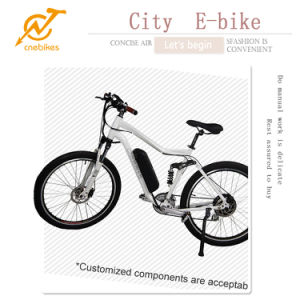 7 Gears 36V 350W /500W /1000W Full Suspension Double Disc Brakes Electric Mountain Bike pictures & photos