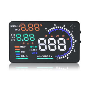 A8 5.5 Inch Car Hud Head up Display Vehicle-Mounted Security System pictures & photos
