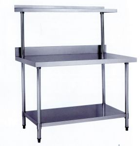 201304 stainless steel commercial work table with backsplash cz120tk - Stainless Steel Work Table With Backsplash
