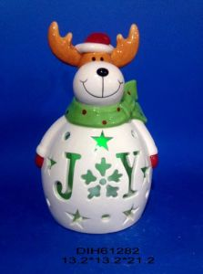 Color-Changing LED Lighted Ceramic Reindeer pictures & photos