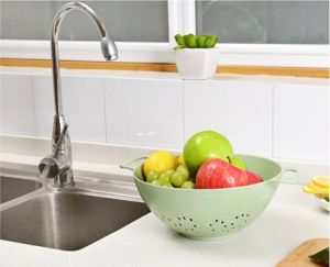 Better Life Creative Wash Rice Fruit Vegetable Sieve Eco-Friendly Material Kitchen Drain Basket pictures & photos
