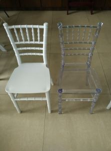 Clear and White Resin Kids Chiavari Tiffany Chair for Party pictures & photos