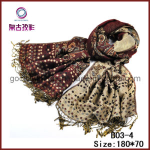 New Design Jacquard Polyester Scarves (B03-4)