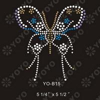 Hot Fix Rhinestone Motif--Butterfly(YO--B002)