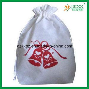 Non-Woven Christmas Bag with Drawstring, Shopping Bag (KX-CIM004)