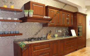 Europe Modern Solid Wood Kitchen Cabinet (zs-303) pictures & photos