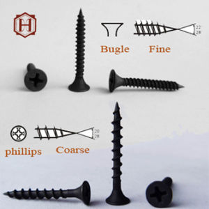 Phosphate Black Color Fine Thread Bugle Head Drywall Screw pictures & photos
