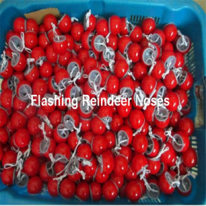Flashing Reindeer Red Clown Noses Party Favor Toy pictures & photos