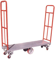 6 wheeled platform hand truck(500PC1600) pictures & photos