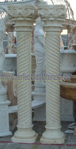 Decorative Roman Pillar with Stone Marble Granite Sandstone (QCM137) pictures & photos