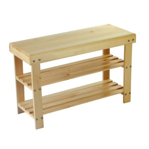 Wooden Shoe Stool (H-H002)