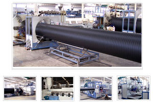 HDPE Large Diameter Hollow Wall Winding Pipe Production Line (SKRG200-800)