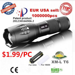 Most Powerful Rechargeable CREE Zoom LED Flashlight Torch pictures & photos