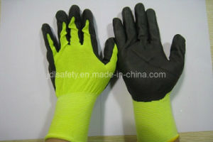 18gauge Nylon Work Glove of Breathable Nitrile Coating (N1606) pictures & photos