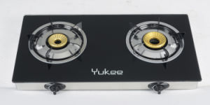 2 Burners Tempered Glass Gas Stove (YD-2GT10)