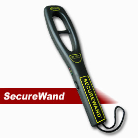 Security Portable Hand-Held Metal Detector Securewand