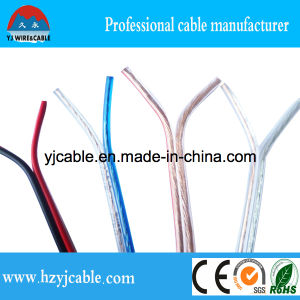 Transparent and Red & Black PVC Insulation Speaker Cable pictures & photos