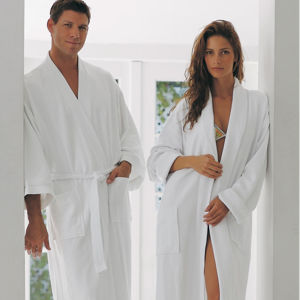 100% Cotton Waffle Hotel Bathrobe (DPH7023) pictures & photos