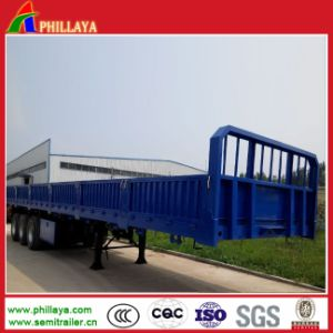 Flatbed Semi Heavy Duty Trailer Wifth Detachable Sidewalls pictures & photos