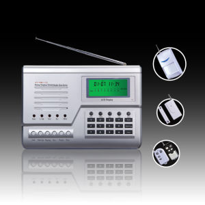 GSM/PSTN Dual Network Burglar Alarm System with Siemens Industrial-grade GSM Module and LCD Display (HT-110B-1 (C) GSM)