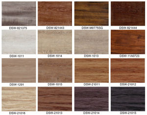 Wooden Floor Tiles/ Vinyl Flooring with Various Patterns pictures & photos