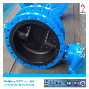 Rubber Liner Cast Iron Double Flanged Double Eccentric Butterfly Valve Bct-E-Rbfv04 pictures & photos