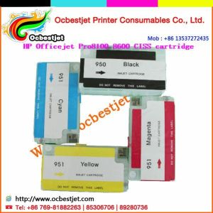 Bulk CISS Refill Cartridges for HP Officejet 8100 8600 Inkjet Printers
