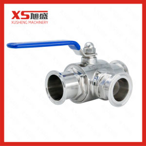 Stainless Steel Sanitary Tc 3-Way Ball Valve pictures & photos