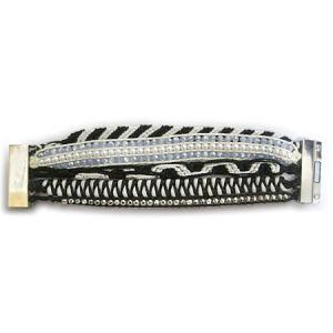 Black & White Hipanema Fashion Jewelry Bracelet (HBL-10848)