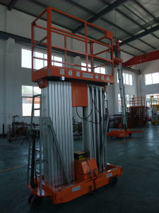 6m Semi-Electric Aerial Work Platform Awp6-2000 (double mast) pictures & photos