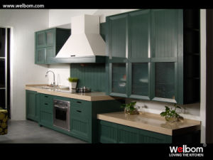2015fairy Tale Romantic Green Solid Wood Kitchen Furniture pictures & photos