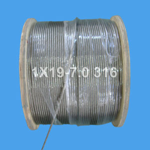 Stainless Steel Wire Rope for Hoisting and Lifting (1X19-7.0) pictures & photos