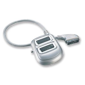 2way, 3 Way, 5 Way Silver Colored Switch Scart Splitter pictures & photos