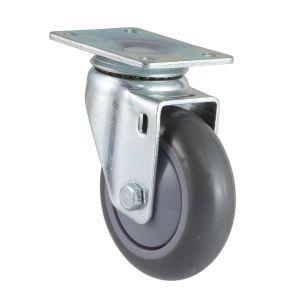 Medium Wheel Swivel PU Caster (Gray) pictures & photos