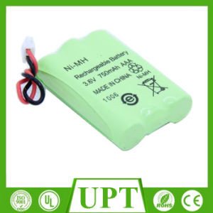 Ni-MH 750mAh AAA 3.6V Rechargeable Batteries/Cells Packs Cordless Phone Battery pictures & photos