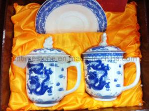 6PC Blue and White Porcelain Tea Set (6615-006) pictures & photos