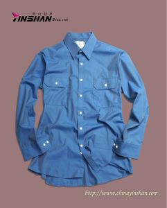 Men′s Cotton Shirt / Long Sleeve Shirt (MX10-0206)