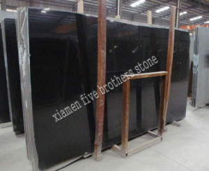 Chinese Black Stone Black Granite Marble Slab Tile