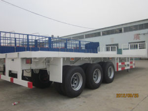 Flatbed Container Semi-Trailer pictures & photos