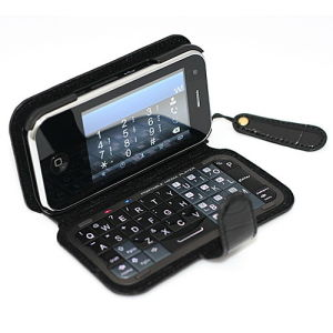 T2000 Quadband Dual SIM Card Standby WiFi TV Phone with Qwerty Keyboard Leather Case